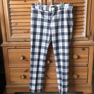 Worthington white/Black/grey plaid pants size 10